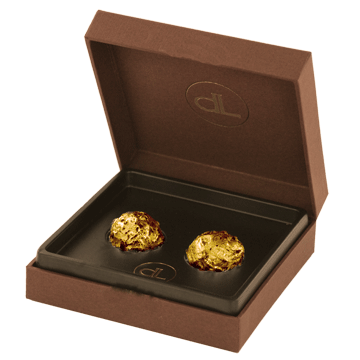 2 Chocolate Truffles With Pure Edible Gold (24k)
